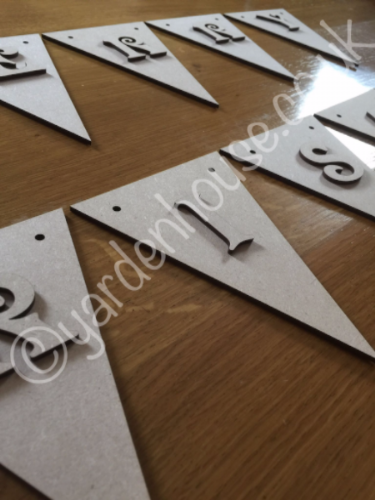 3mm MDF Bunting and Letter (Just £0.75p per piece)